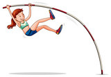 Woman athelete doing pole vault