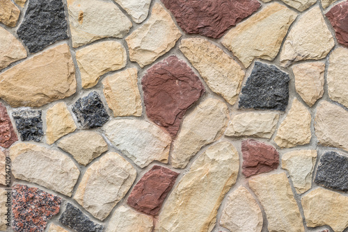 wall of natural stone as texture