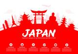 Fototapety Beautiful Japan Travel Landmarks.