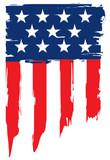 Fototapety Grunge flag of united states of america