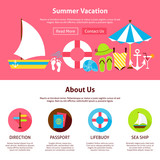 Summer Vacation Flat Web Design Template