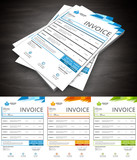 Invoice.File contains text editable AI, EPS10,JPEG and free font link.