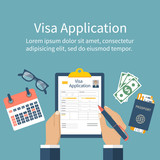Application visa vector