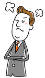 ビジネス,仕事,ベクター,イラスト,働く,スーツ,人物,会社員,腕組み,怒る,怒り,憤り,険しい,サラリーマン,会社,企業,イライラ,腹立つ,厳しい,ストレス,憤慨,いらだつ,激怒,ヒステリー,逆上,立腹,若い,上司,部下,社会人,マナー,常識,態度  110246151,イラスト素材:中年ビジネスマン 怒る 笑う,keigo1027yasuda,206080892,3,392,0,0,business