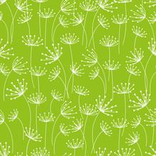 Naadloze patroon met bloemen versierde