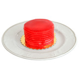 Red jelly cake on a white background