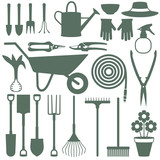 Gardening related vector icons 1 - 110293970