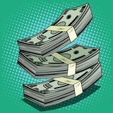 Fototapety Stack of money dollar bills cash