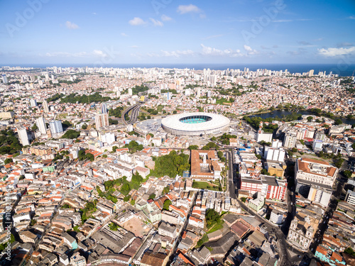 fototapeta na ścianę Aerial view of Salvador City in Bahia, Brazil
