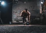 Bodybuilder with weight