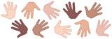 Manos diferentes razas