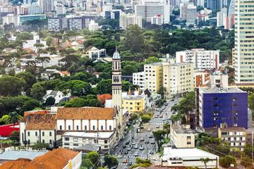 Aerial view of Curitiba, Parana, Brazil.