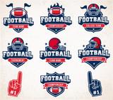 Fototapety Vector Football logos and insignias