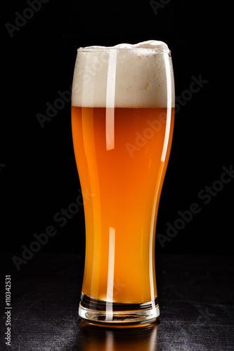 Beer Glass on black Poster