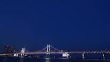 4K, Time lapse, Background, Gwangan Bridge from evening to night in Busan, South Korea
