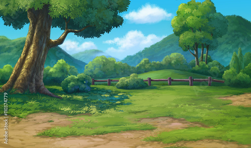 painting for jungle and mountain