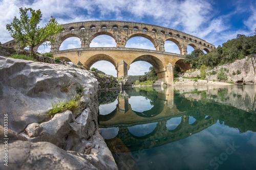 Akwedukt Pont du Gard. Francja