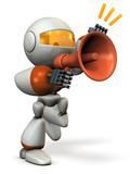 声援を送るキュートなロボットロボット