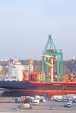 Stockholm, Sweden - April, 5, 2016: cargo port in Stockholm, Sweden