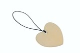 3D rendering heart shape wooden talisman