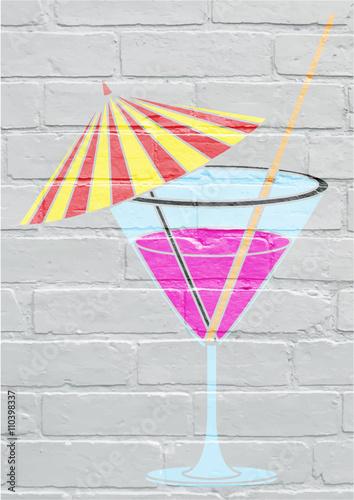 Art urbain, cocktail Poster