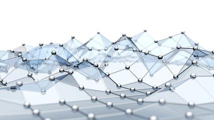 Abstrakter 3D Netzwerk Hintergrund