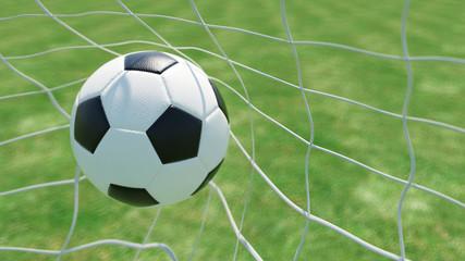 Klassischer Fußball im Tor