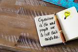 Handwritten text Experience is the word people use to call their mistakes
