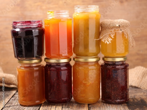 Poster assorted berry fruit jam