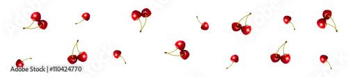 Aluminium Kersen cover header pattern cherry berries red