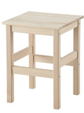 Wooden stool. Clipping path.