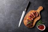 Grilled striploin steak