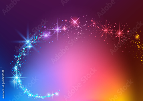 Colorful Background with Sparkling Stream Effect - Abstract Illustration, Vector