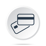 Black Credit Card Payment icon on white web button