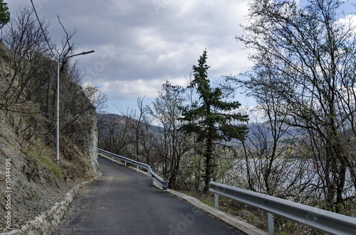 Zdjęcia na płótnie, fototapety, obrazy : Picturesque road at Lozen mountain in springtime cloudy day,  Pancharevo, Bulgaria