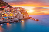Fototapety Old village Manarola, coast of Italy