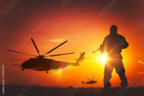 obraz lub plakat Military Mission at Sunset