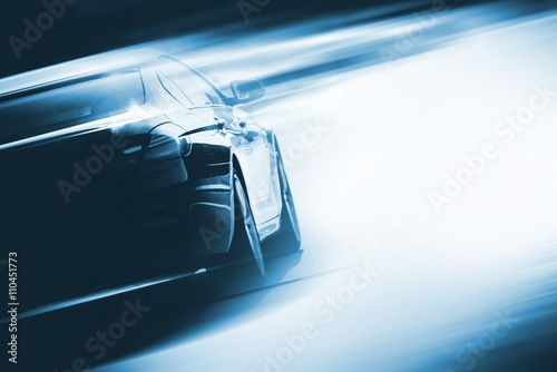 Speeding Car Background