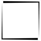 Square format photo frame, photo border
