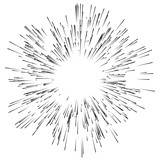 Abstract explosion, bursting effect, radial, radiating edgy line - 110462116