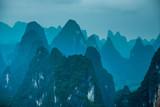 Beautiful karst mountains scenery