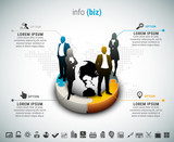 Business infographic. File contains text editable AI, EPS10,JPEG and free font link used in design.
