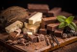 Shattered homemade chocolate