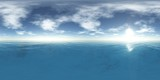 Fototapety HDRI, High resolution map. the sun in the clouds over the sea