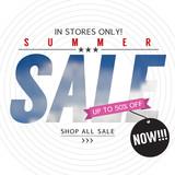 Summer Sale Banner Vector Illustration.