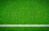 Fußballrasen mit waagrechter Linie