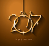 2017 Happy New Year Background for your Flyers and Greetings Card