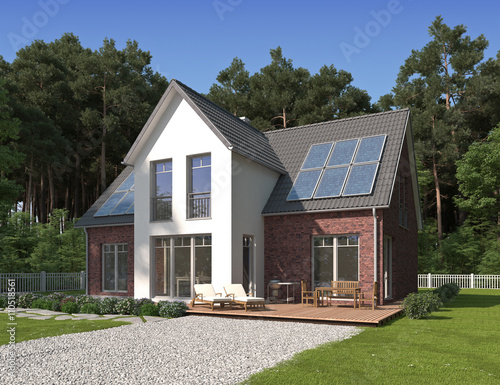 Einfamilienhaus neubau mit erker  GamesAgeddon - Haus Klinker mit weissem Erker - Lizenzfreie Fotos ...