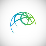 earth globe eco logo