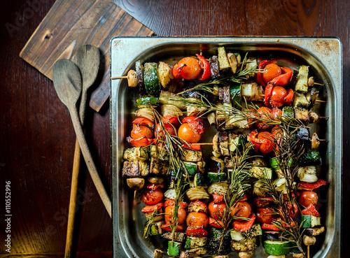 Fototapeta grilled skewers